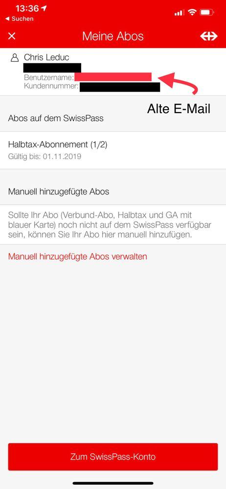 Bildschirmfoto der App mit Hervorhebungen die den Fehler beschreiben.