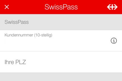 SwissPass (Halbtax) in SBB Mobile hinterlegen.