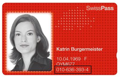 Die zehnstellige Kundennummer ist auf der Vorderseite der SwissPass-Karte aufgeführt.