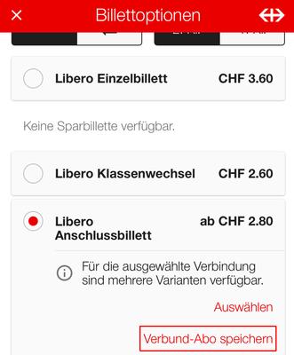 Verbund-Abo (Zonen) speichern.